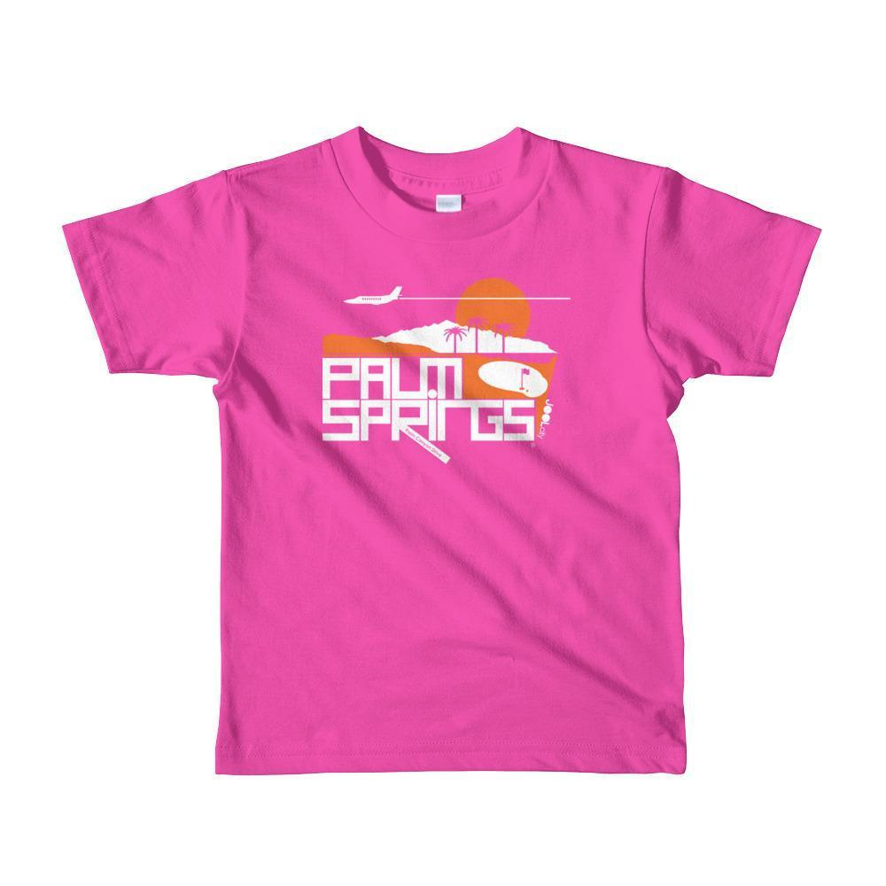Palm Springs Country Club Toddler Short Sleeve T-shirt T-Shirt Fuchsia / 6yrs designed by JOOLcity