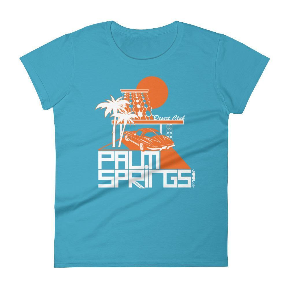 Palm Springs Desert Club Women's  Short Sleeve T-Shirt T-Shirt Caribbean Blue / 2XL designed by JOOLcity