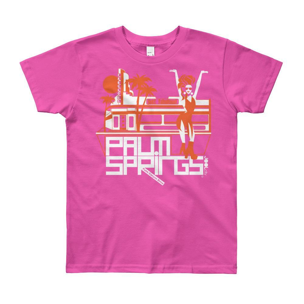 Palm Springs Fabulous Short Sleeve Youth T-shirt T-Shirt Fuchsia / 12yrs designed by JOOLcity