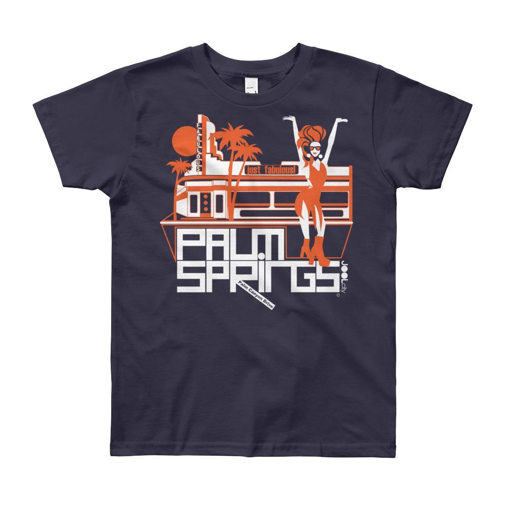 Palm Springs Fabulous Short Sleeve Youth T-shirt T-Shirt Navy / 12yrs designed by JOOLcity