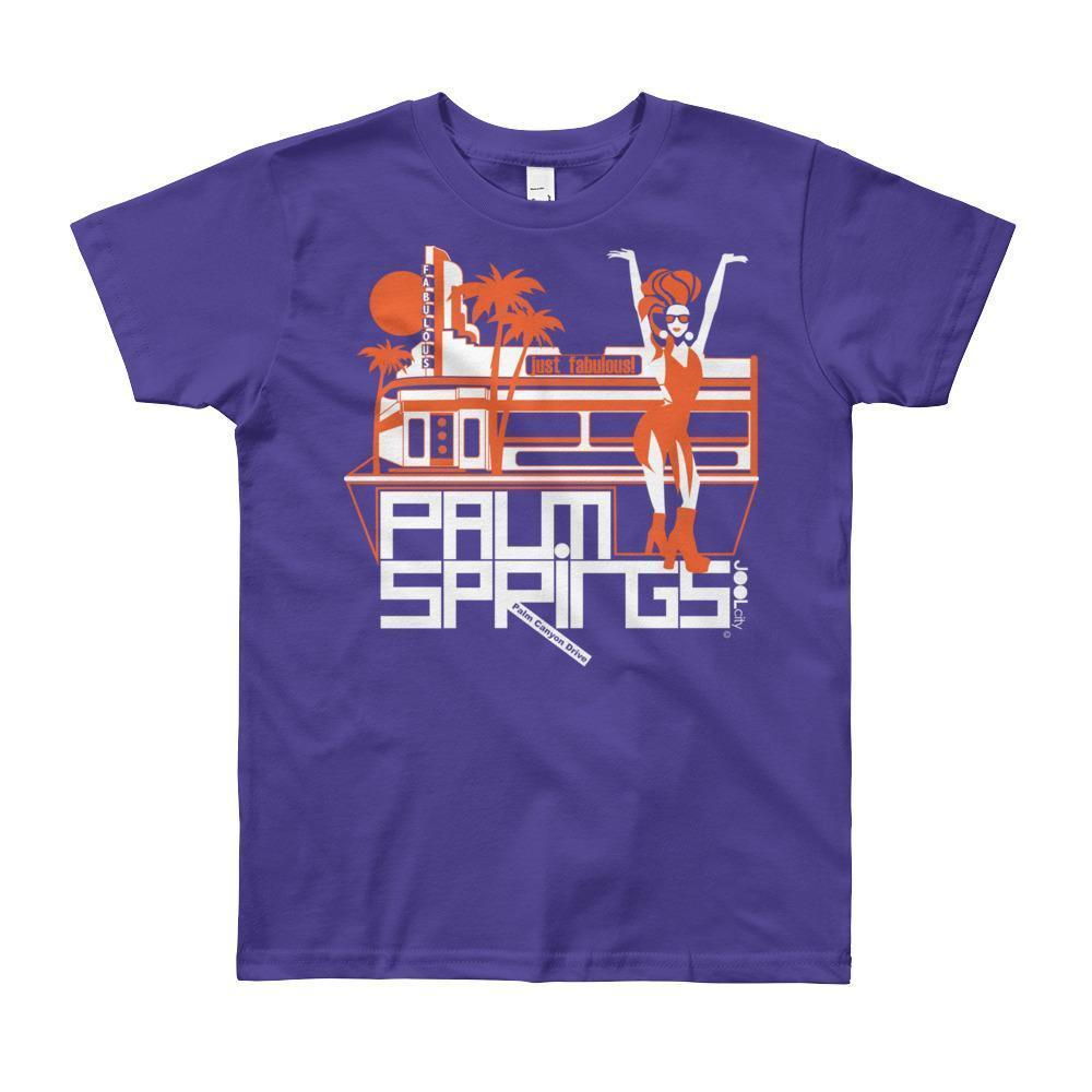 Palm Springs Fabulous Short Sleeve Youth T-shirt T-Shirt Purple / 12yrs designed by JOOLcity