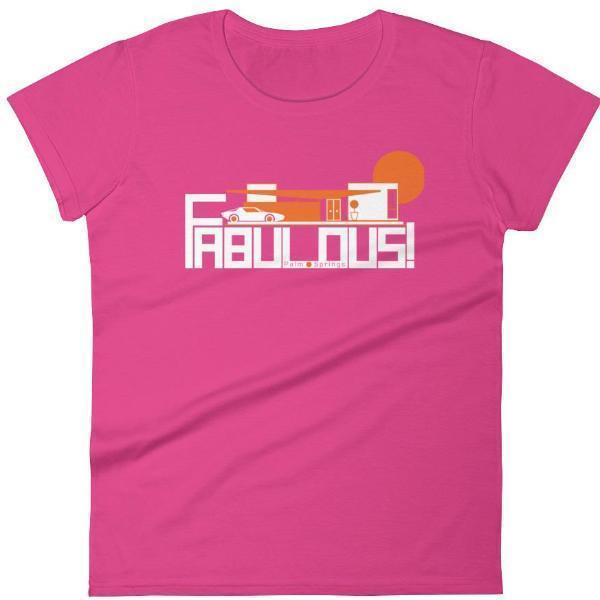 Palm Springs  FABULOUS Women's  Short Sleeve T-Shirt T-Shirt Hot Pink / 2XL designed by JOOLcity