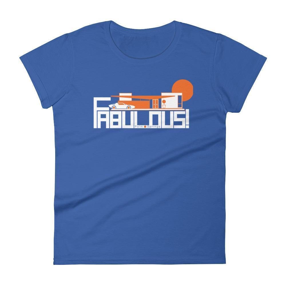 Palm Springs  FABULOUS Women's  Short Sleeve T-Shirt T-Shirt Royal Blue / 2XL designed by JOOLcity