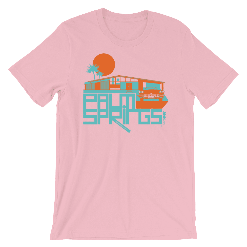 Palm Springs Glam Ranch Short-Sleeve Unisex T-Shirt T-Shirt Pink / 2XL designed by JOOLcity