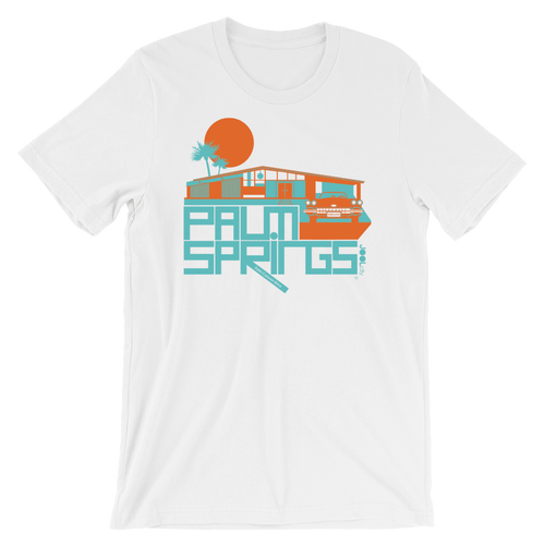 Palm Springs Glam Ranch Short-Sleeve Unisex T-Shirt T-Shirt White / 2XL designed by JOOLcity