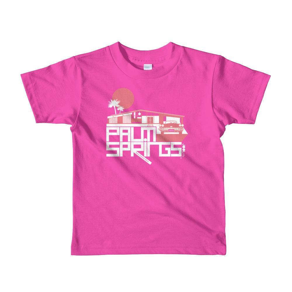 Palm Springs Glam Ranch Toddler Short Sleeve T-shirt T-Shirt Fuchsia / 6yrs designed by JOOLcity