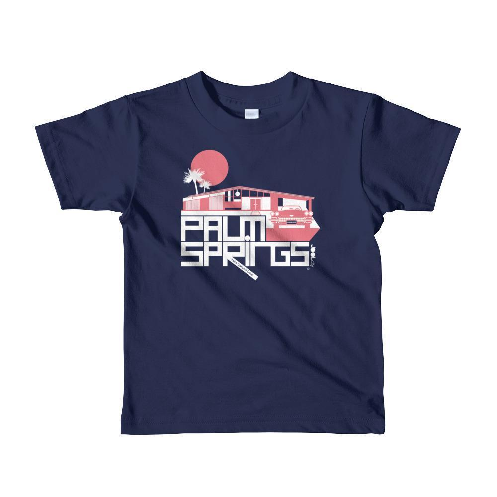 Palm Springs Glam Ranch Toddler Short Sleeve T-shirt T-Shirt Navy / 6yrs designed by JOOLcity