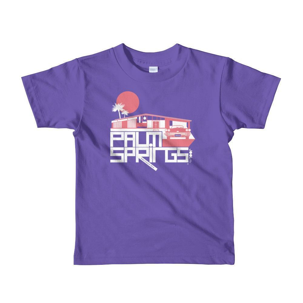 Palm Springs Glam Ranch Toddler Short Sleeve T-shirt T-Shirt Purple / 6yrs designed by JOOLcity