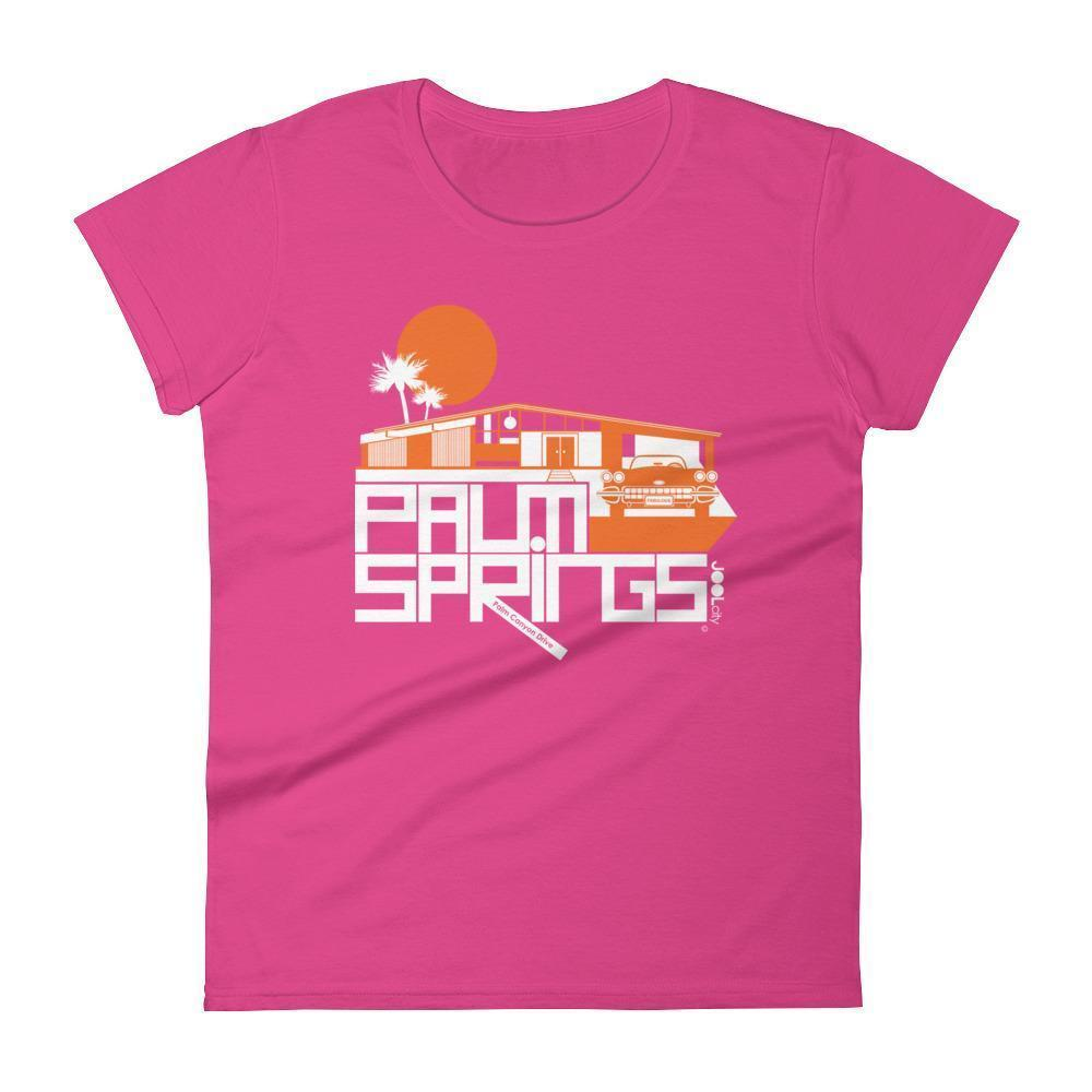 Palm Springs  Glam Ranch  Women's  Short Sleeve T-Shirt T-Shirt Hot Pink / 2XL designed by JOOLcity
