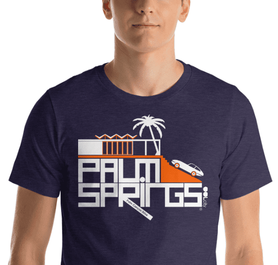 Palm Springs Hill House Short-Sleeve Men's  T-Shirt T-Shirt  designed by JOOLcity