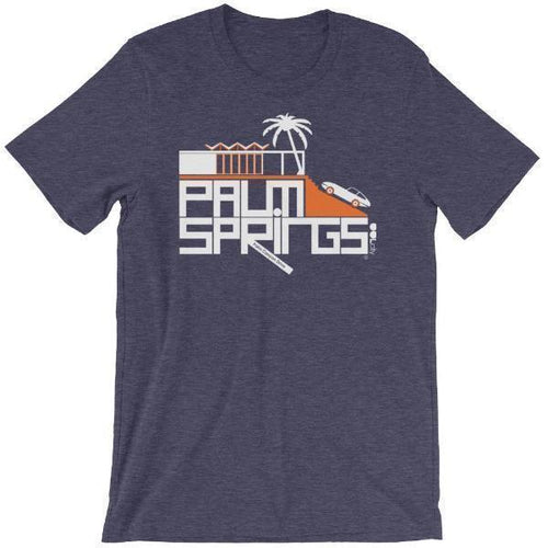 Palm Springs Hill House Short-Sleeve Men's  T-Shirt T-Shirt Heather Midnight Navy / 2XL designed by JOOLcity