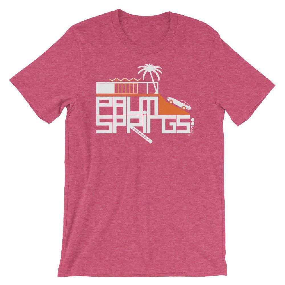 Palm Springs Hill House Short-Sleeve Men's  T-Shirt T-Shirt Heather Raspberry / 2XL designed by JOOLcity