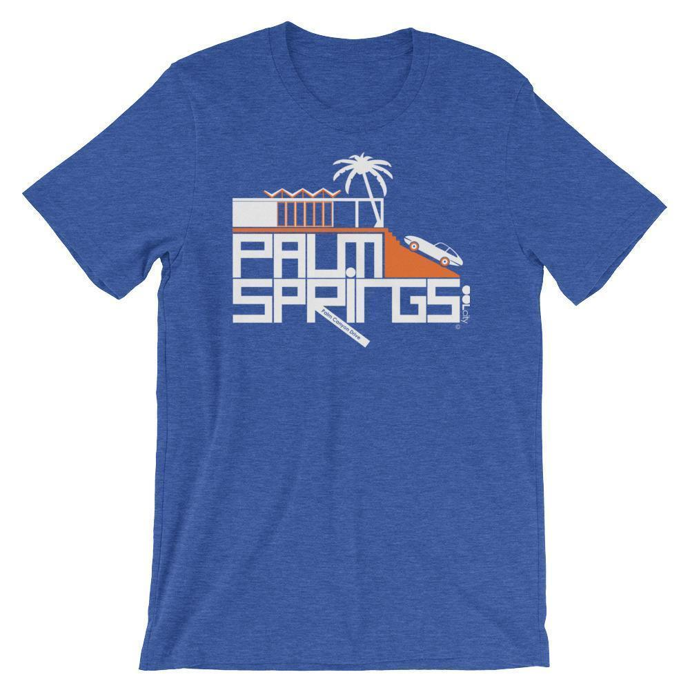 Palm Springs Hill House Short-Sleeve Men's  T-Shirt T-Shirt Heather True Royal / 2XL designed by JOOLcity