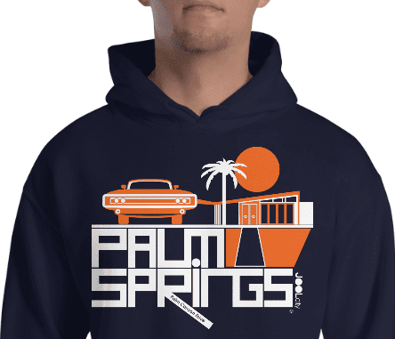 Palm Springs Mod Car Hooded Sweatshirt