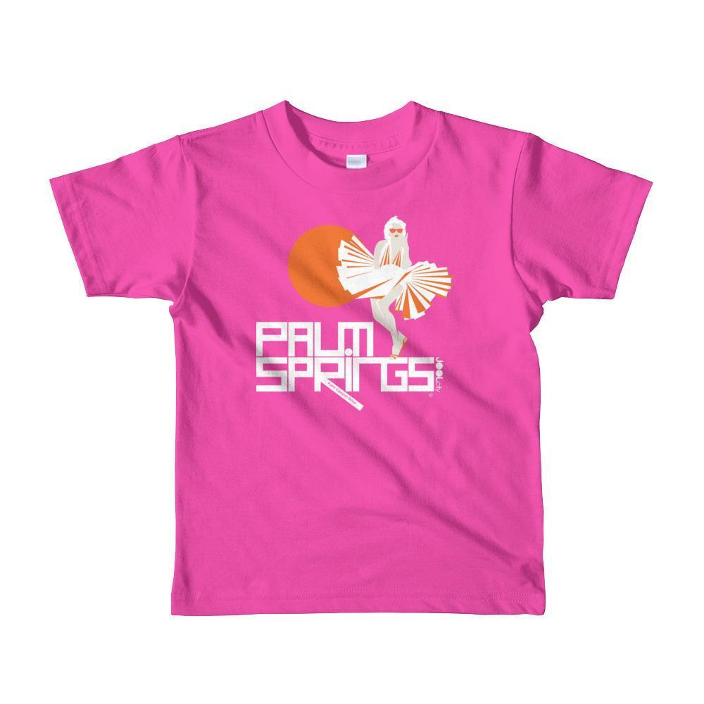 Palm Springs My Girl Toddler Short Sleeve T-shirt T-Shirt Fuchsia / 6yrs designed by JOOLcity
