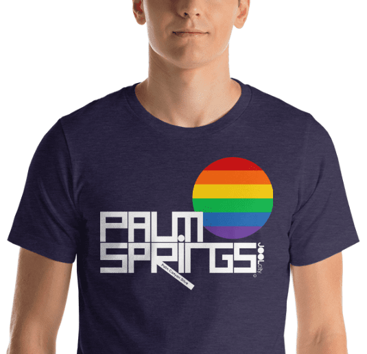 Palm Springs PRIDE Short-Sleeve Men's  T-Shirt T-Shirt  designed by JOOLcity