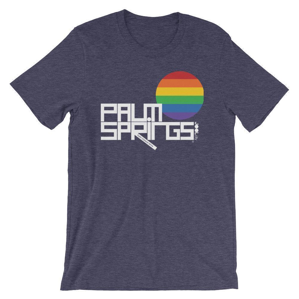 Palm Springs PRIDE Short-Sleeve Men's  T-Shirt T-Shirt Heather Midnight Navy / 2XL designed by JOOLcity