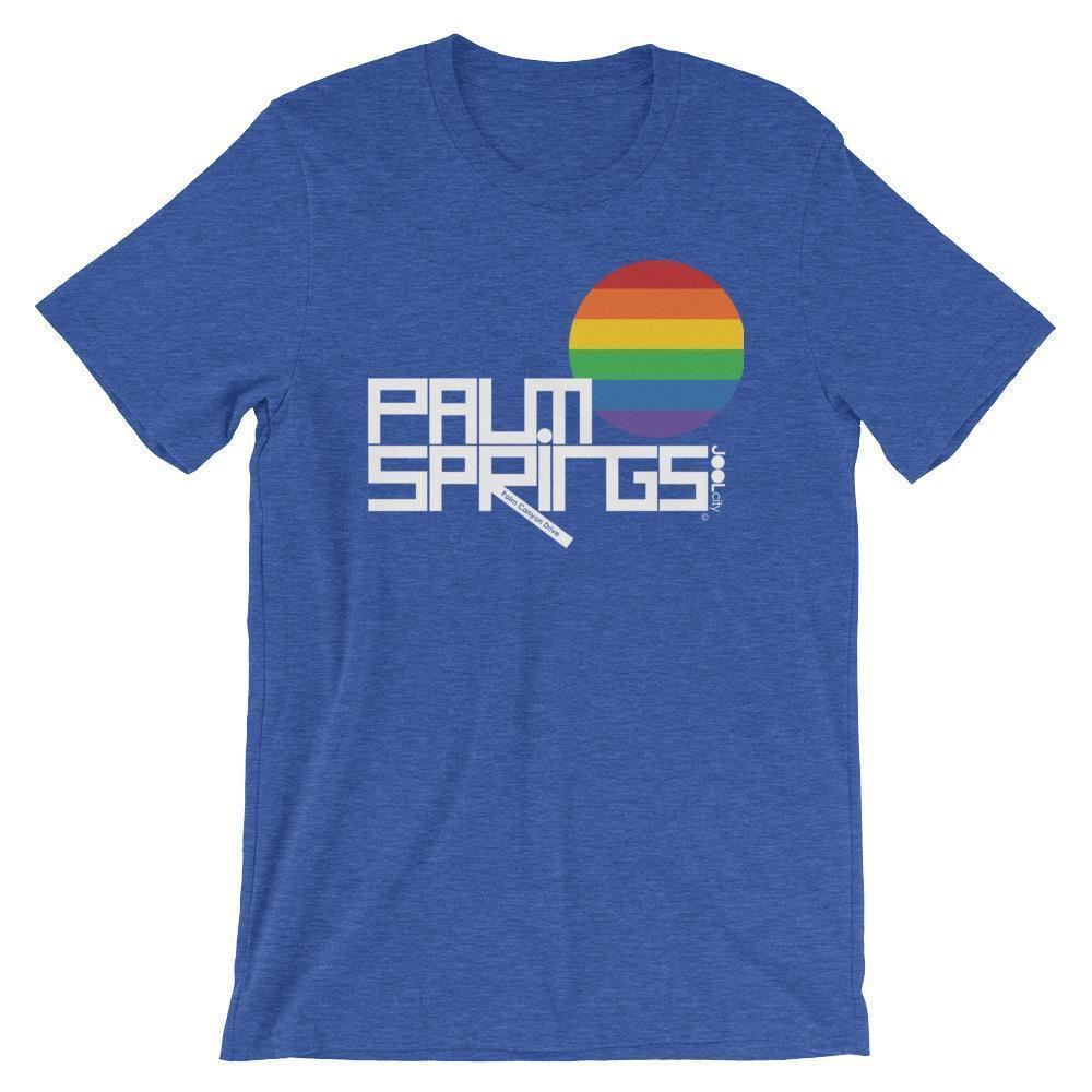 Palm Springs PRIDE Short-Sleeve Men's  T-Shirt T-Shirt Heather True Royal / 2XL designed by JOOLcity