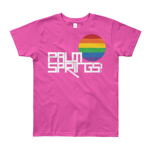 Palm Springs PRIDE Short Sleeve Youth T-shirt  Fuchsia / 12yrs designed by JOOLcity
