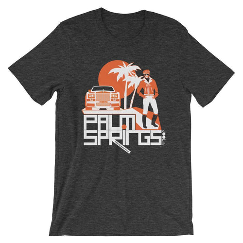 Palm Springs Rolling Pose Short-Sleeve Men's T-Shirt T-Shirt Dark Grey Heather / 2XL designed by JOOLcity