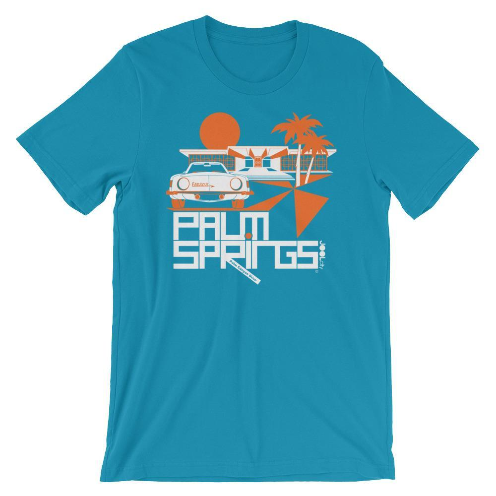 Palm Springs Swank City Short-Sleeve Unisex T-Shirt T-Shirt Aqua / 2XL designed by JOOLcity