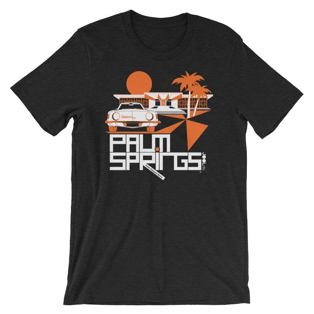 Palm Springs Swank City Short-Sleeve Unisex T-Shirt T-Shirt Black Heather / 2XL designed by JOOLcity