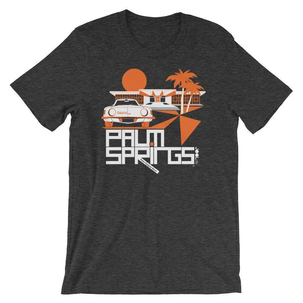 Palm Springs Swank City Short-Sleeve Unisex T-Shirt T-Shirt Dark Grey Heather / 2XL designed by JOOLcity