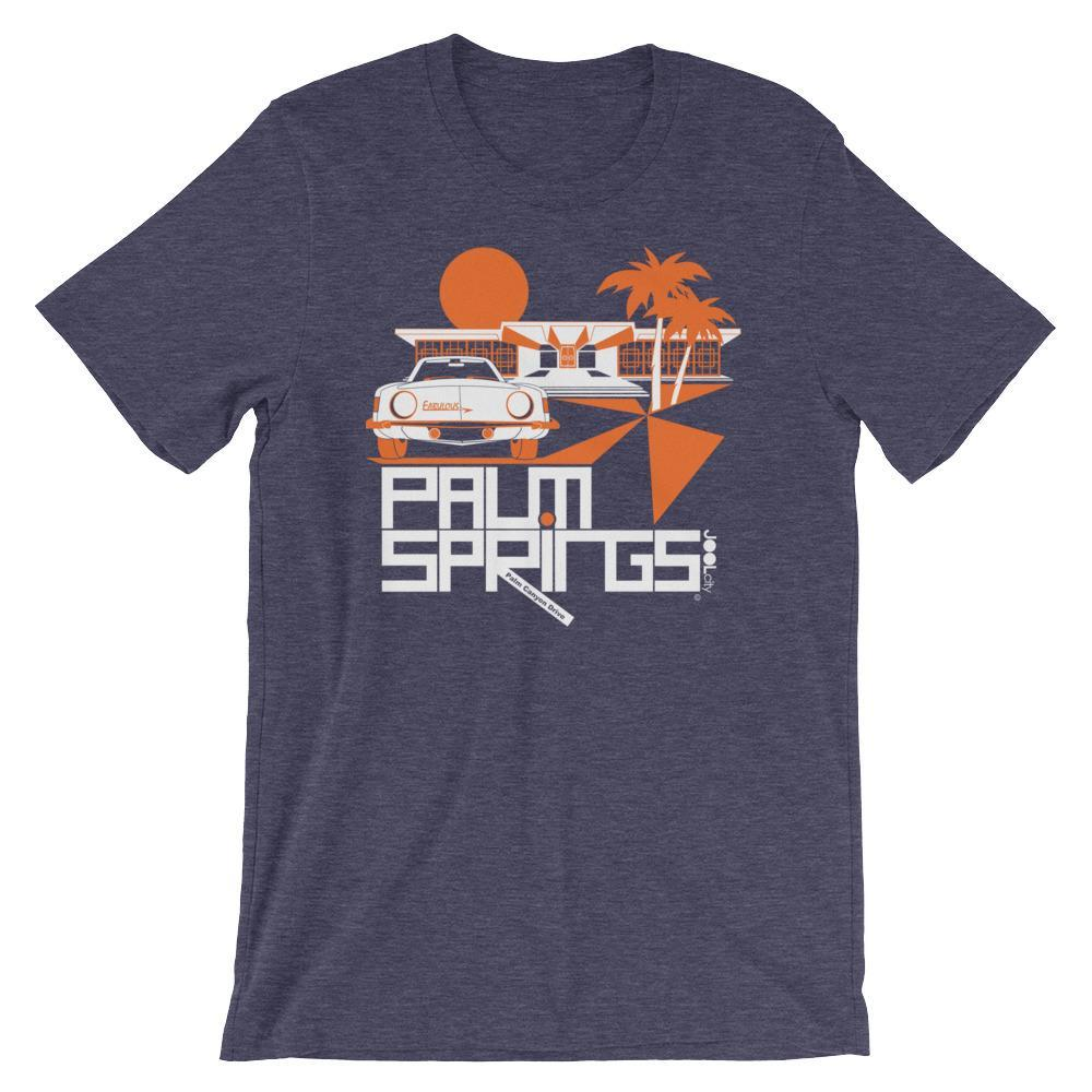 Palm Springs Swank City Short-Sleeve Unisex T-Shirt T-Shirt Heather Midnight Navy / 2XL designed by JOOLcity