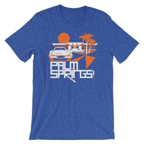 Palm Springs Swank City Short-Sleeve Unisex T-Shirt T-Shirt Heather True Royal / 2XL designed by JOOLcity