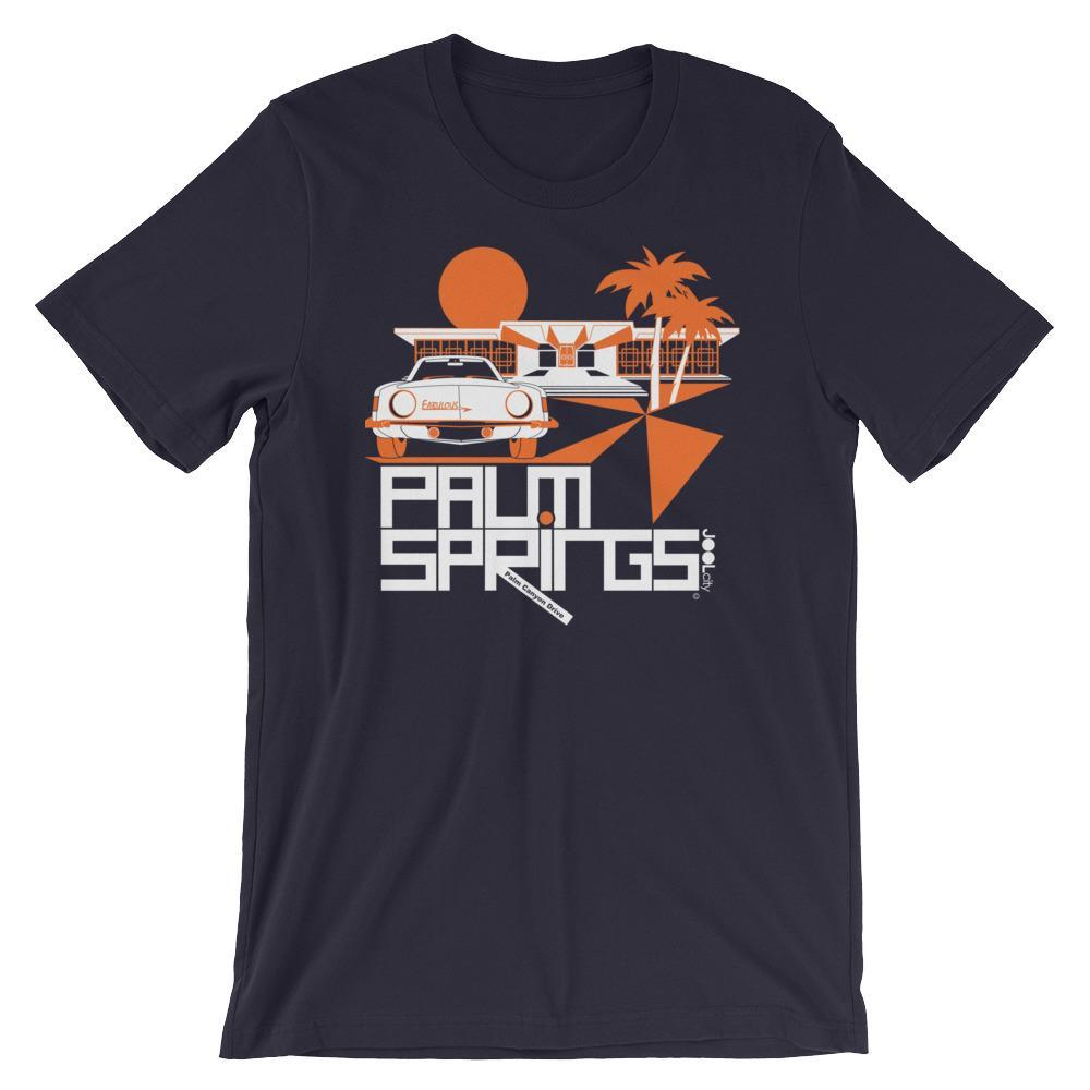 Palm Springs Swank City Short-Sleeve Unisex T-Shirt T-Shirt Navy / 2XL designed by JOOLcity