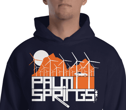 Palm Springs Wind Farm Hooded Sweatshirt
