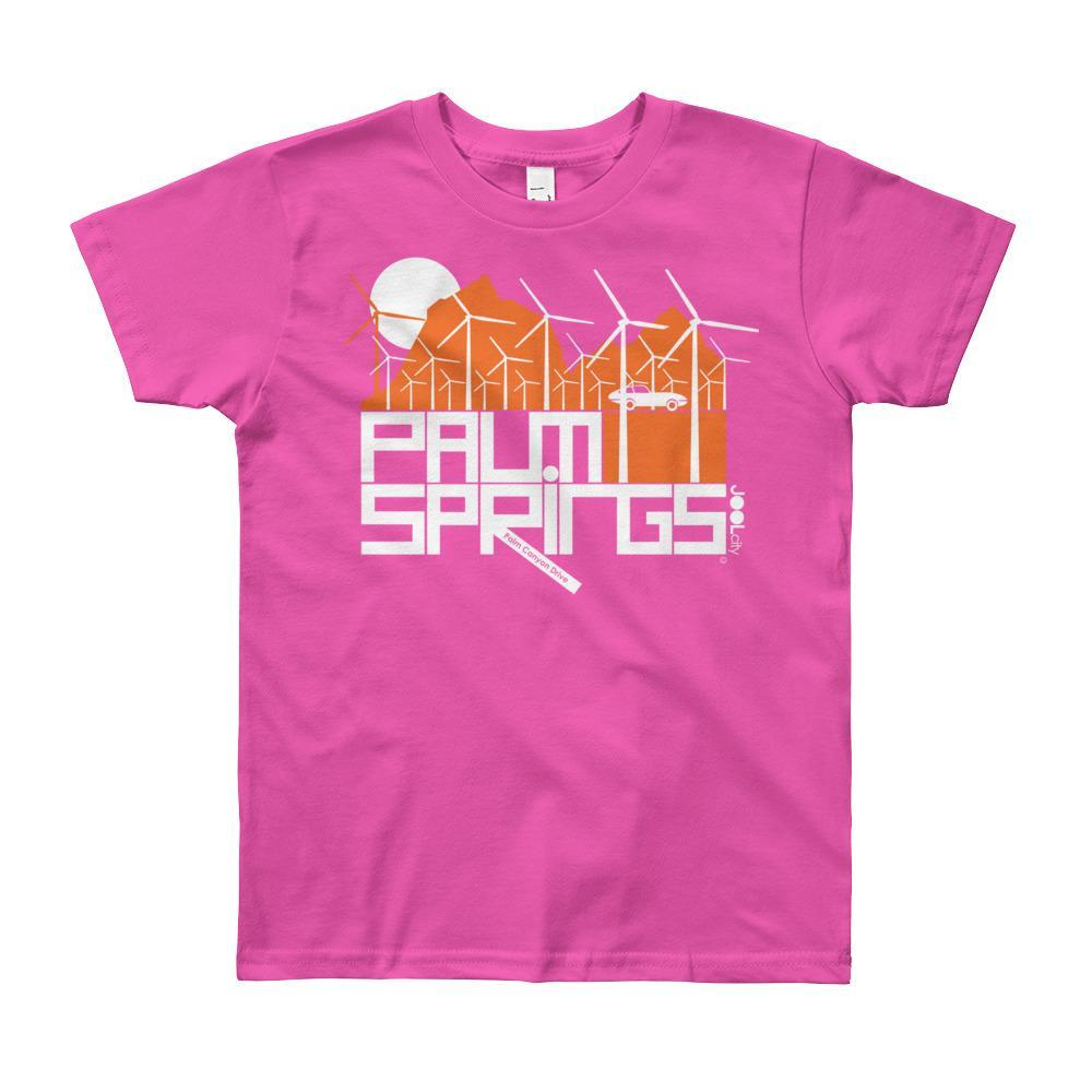 Palm Springs Wind Farm Short Sleeve Youth T-shirt  Fuchsia / 12yrs designed by JOOLcity