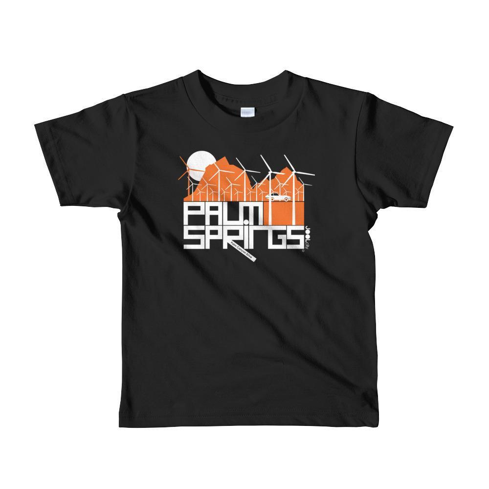 Palm Springs Wind Farm Toddler Short Sleeve T-shirt T-Shirt Black / 6yrs designed by JOOLcity