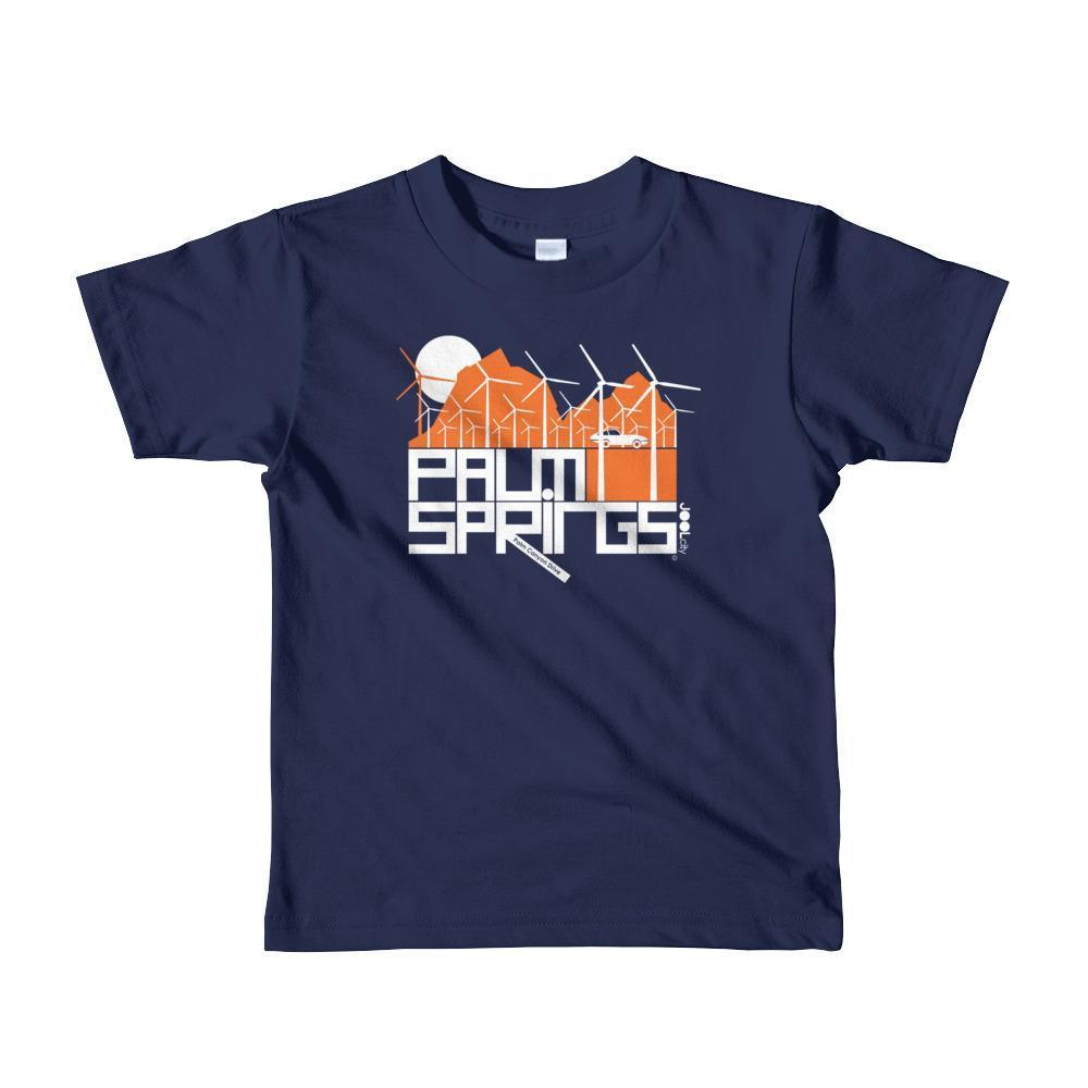 Palm Springs Wind Farm Toddler Short Sleeve T-shirt T-Shirt Navy / 6yrs designed by JOOLcity