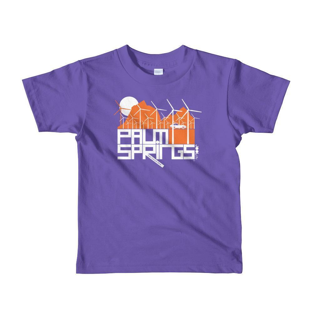 Palm Springs Wind Farm Toddler Short Sleeve T-shirt T-Shirt Purple / 6yrs designed by JOOLcity