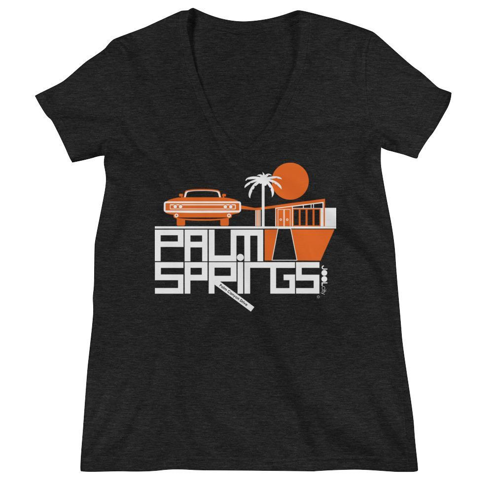 Palm Springs Mod Car Women's Fashion Deep V-neck Tee