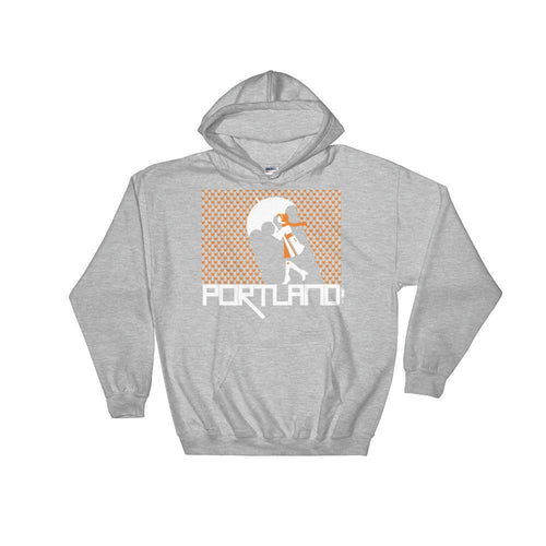Portland Raining Hearts Hooded Sweatshirt