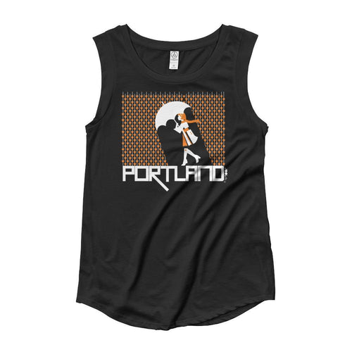 Portland Raining Hearts Ladies' Cap Sleeve Tank-Top
