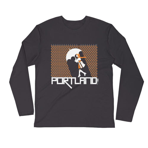 Portland Raining Hearts Long Sleeve Men's T-Shirt T-Shirt 2XL designed by JOOLcity