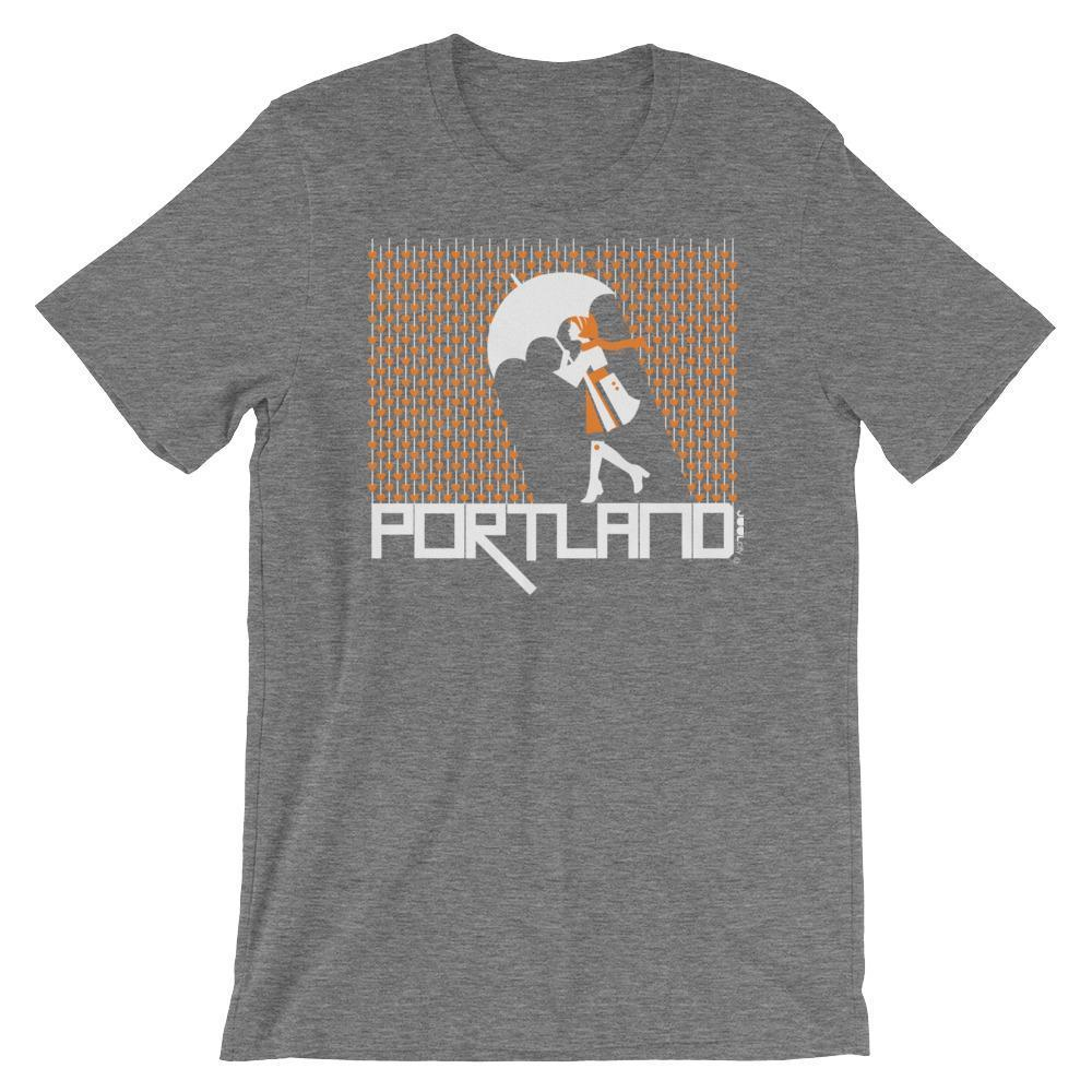 Portland Raining Hearts Short-Sleeve Men's  T-Shirt T-Shirt Deep Heather / 2XL designed by JOOLcity