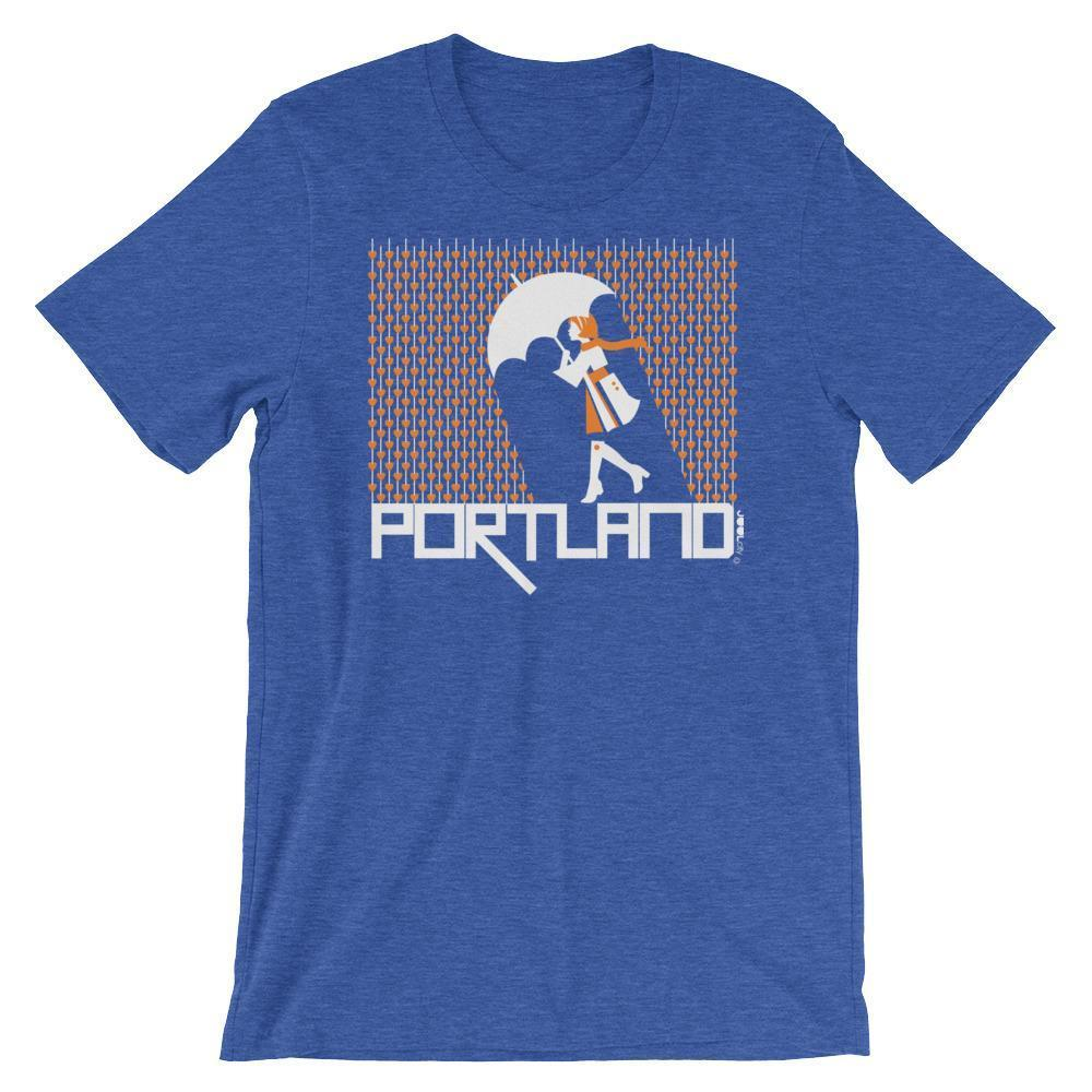 Portland Raining Hearts Short-Sleeve Men's  T-Shirt T-Shirt Heather True Royal / 2XL designed by JOOLcity