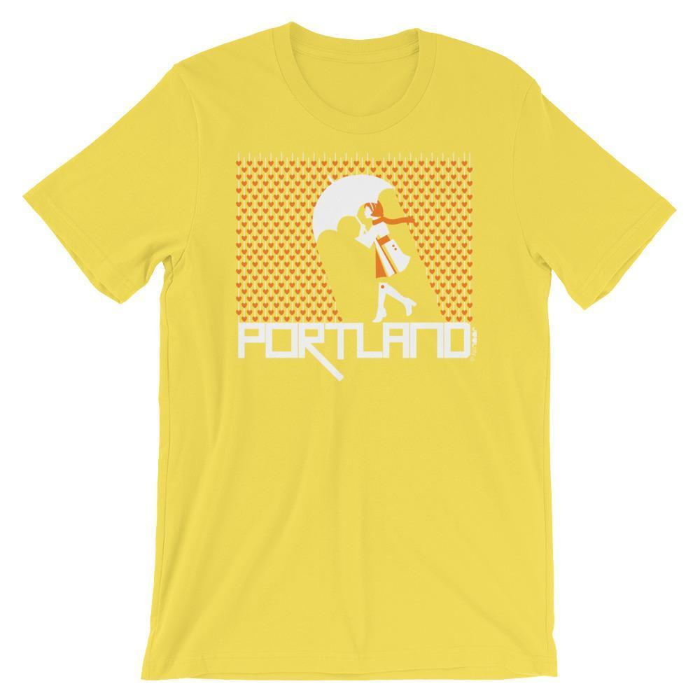 Portland Raining Hearts Short-Sleeve Men's  T-Shirt T-Shirt Yellow / 2XL designed by JOOLcity