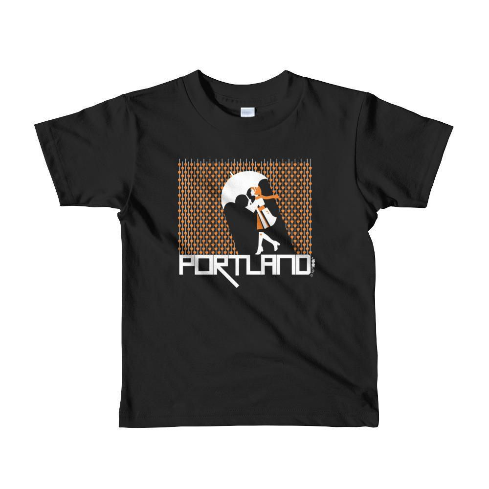 Portland Raining Hearts Toddler Short-Sleeve T-Shirt T-Shirt Black / 6yrs designed by JOOLcity