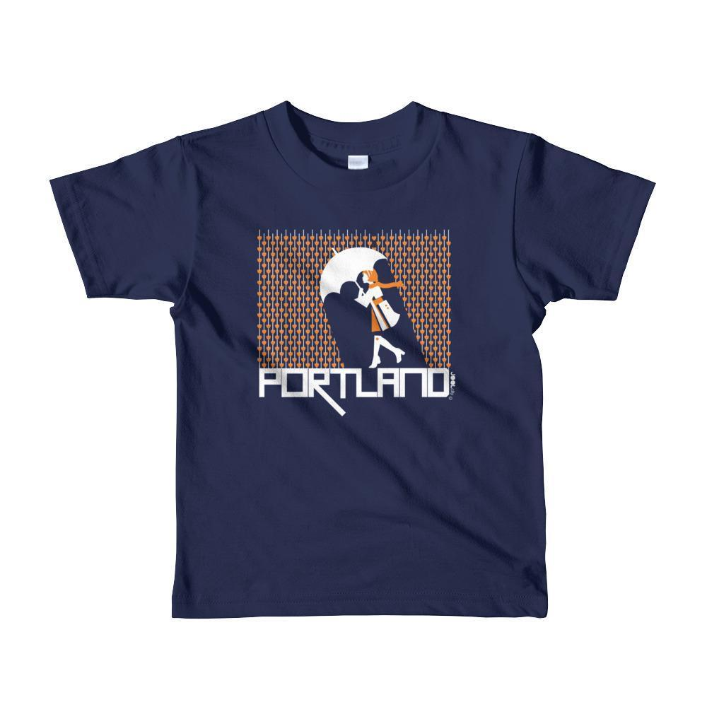 Portland Raining Hearts Toddler Short-Sleeve T-Shirt T-Shirt Navy / 6yrs designed by JOOLcity
