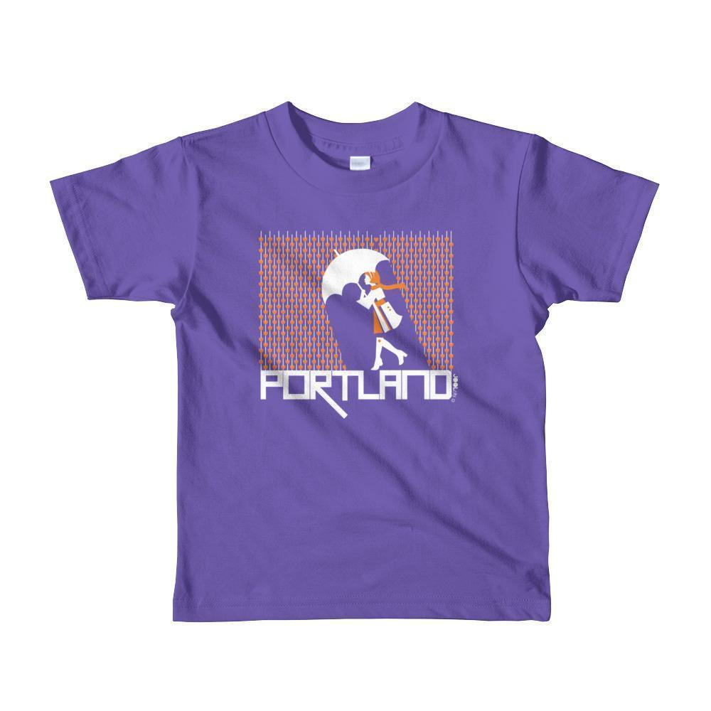 Portland Raining Hearts Toddler Short-Sleeve T-Shirt T-Shirt Purple / 6yrs designed by JOOLcity
