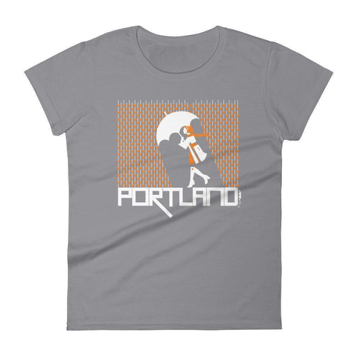 Portland Raining Hearts Women's short sleeve t-shirt T-Shirt Storm Grey / 2XL designed by JOOLcity