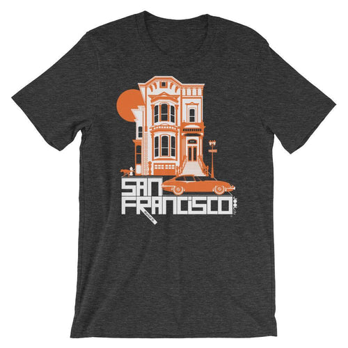 San Fancisco Victorian Dream Short-Sleeve Men's T-Shirt T-Shirt Dark Grey Heather / 2XL designed by JOOLcity