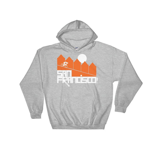 San Francisco Alamo Square Cyclist Hooded Sweatshirt