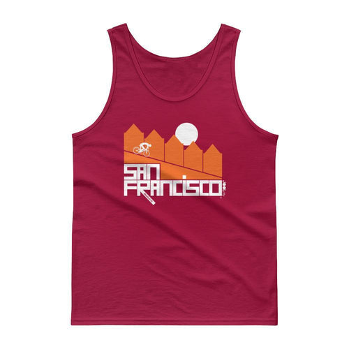 San Francisco Alamo Square Cyclist Men's Tank Top