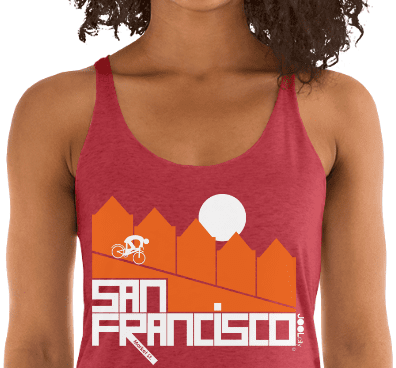 San Francisco Alamo Square Cyclist Women's Tank Top